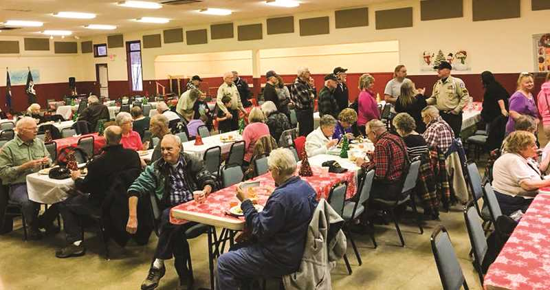 PHOTO SUBMITTED BY SHANNON DEARTH - A large amount of veterans and their families attended the inaugural Veterans Appreciation Dinner last year. The dinner returns again next Tuesday.
