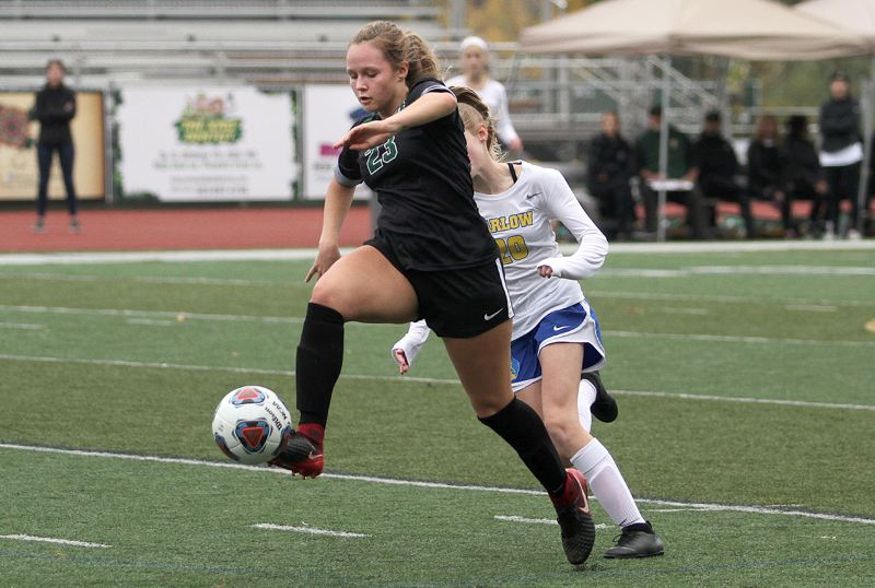 TIDINGS FILE PHOTO - West Linn senior midfielder Calli Masters was named to the all-Three Rivers League first team after leading the Lions in the Class 6A state semifinals.