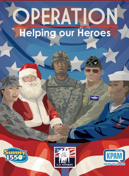 COURTESY KPAM - The poster for Operation Helping Our Heroes.