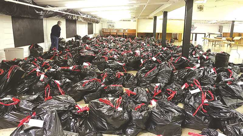 Bagged and ready, last year's food and toy drive helped hundreds in the Canby community.