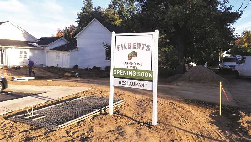 Filberts Farmhouse Kitchen will be open around Nov. 23 in Aurura.