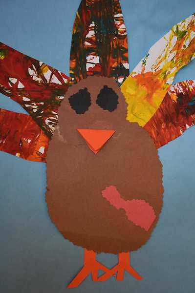 CONTRIBUTED PHOTO - This turkey is one of many that greets visitors at Clackamas River Elementary School.
