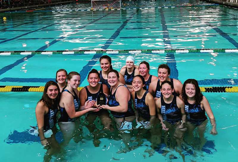 COURTESY PHOTO - The Hillsboro High School girls water polo team placed third at the state tournament.
