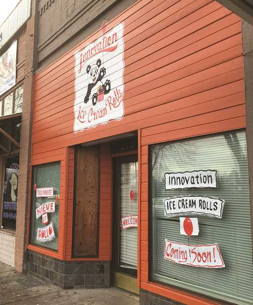 LINDSAY KEEFER - Innovation Ice Cream Rolls, located in downtown Woodburn at 273 N. Front St., is scheduled to hold its grand opening at 3 p.m. Nov. 23.