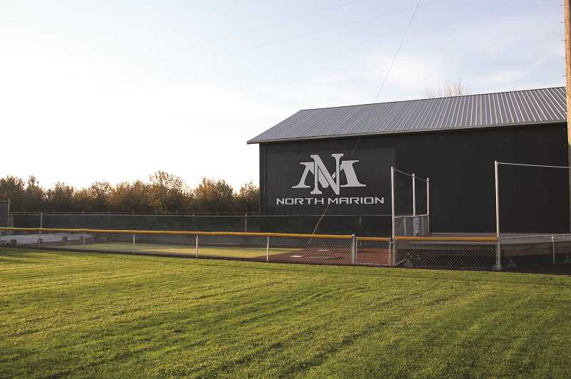 PHIL HAWKINS - North Marion High School recently extended elevated seating into foul territory near right field, creating a bullpen for the home team to warm up pitchers. A similar project is currently underway along the left field side of Bob Brack Stadium.