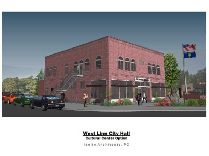 SUBMITTED GRAPHIC - The Willamette Falls Heritage Area Coalition envisions using the first floor of the building as a cultural center, while the second floor could serve as office space and a community meeting hub.