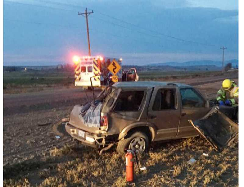 SUBMITTED PHOTO - A Gateway man died Nov. 13, in a rollover accident on Northeast Clark Drive, north of Madras.