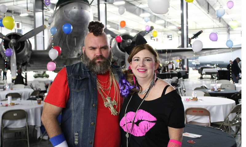 JENNIFFER GRANT/MADRAS PIONEER - Brentley Foster's date Thomas Lubinski came dressed as 'Mr. T,' complete with a mohawk.