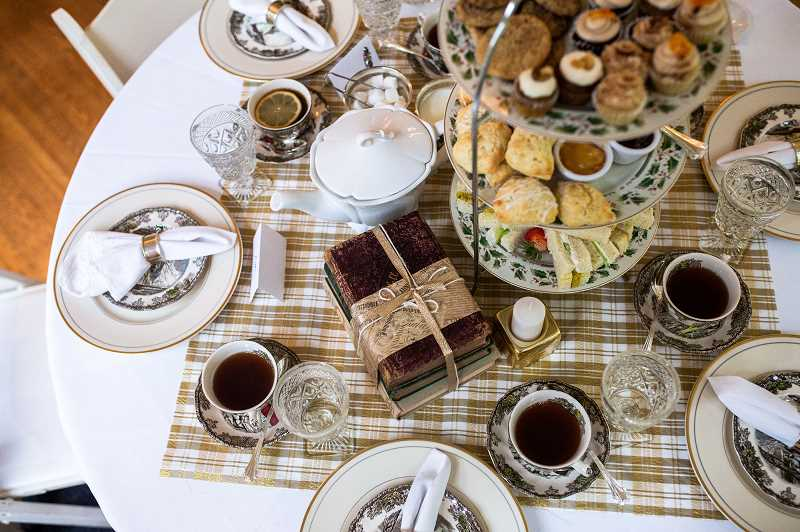 SUBMITTED PHOTOS: COURTNEY JADE PHOTOGRAPHY - West Linn resident Nancy Scott has launched SugarCube PDX, to allow people to experience the pleasures of a tea party. You can attend her hosted tea parties, or she will allow you to rent her tea services to throw your own party.
