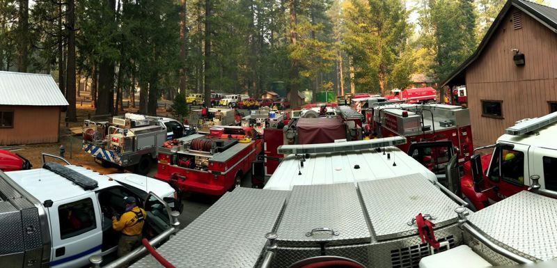 PHOTO: FIREFIGHTER BRYAN SIMMONS - Crews from throughout the West rallied to help their colleagues in California.
