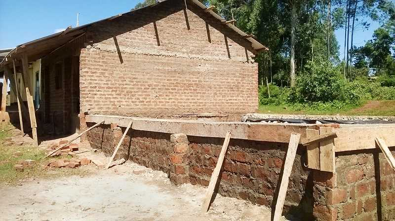 SUBMITTED PHOTO - A foundation is set for expansion of the classroom in Kenya.