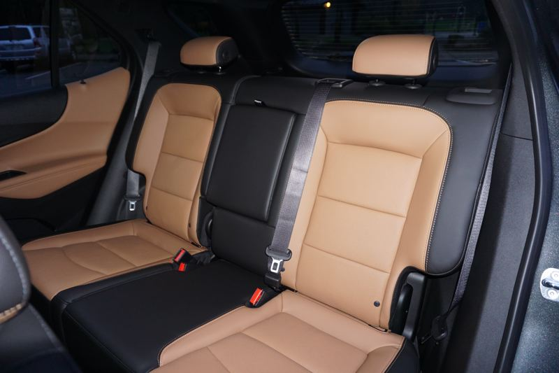 PORTLAND TRIBUNE: JEFF ZURSCHMEIDE - The rear seats in the 2019 Chevy Equinox are comfortable and roomy enough for up to three adults.