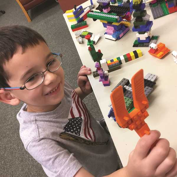 COURTESY PHOTO - The Molalla Public Library offers drop-in Lego time.