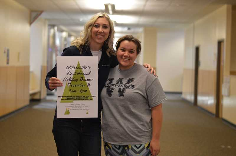 SPOKESMAN PHOTO: CLARA HOWELL  - Kristen Rott, left, and Katelyn Glavey are looking forward to uniting students and the Wilsonville community during the Holiday Bazaar.