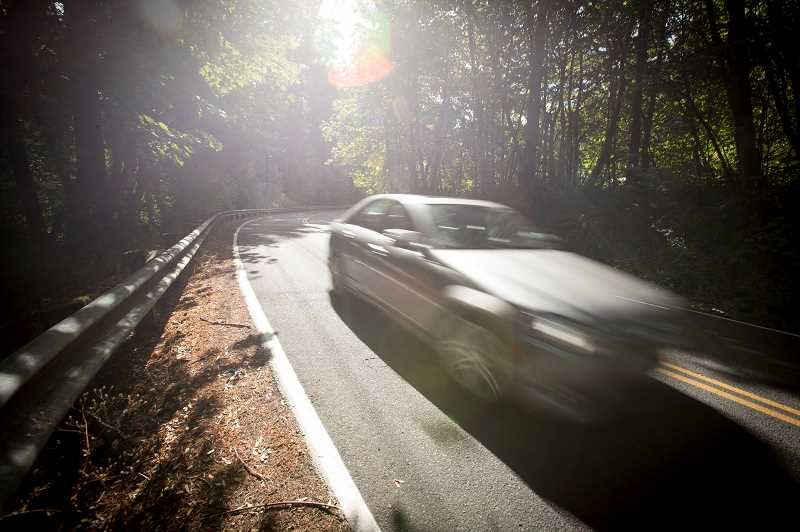 FILE PHOTO: JAIME VALDEZ - A car negotiates one of the curves in the Garden Corner S Curves late last summer.