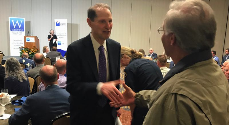 FILE PHOTO - Ron Wyden appearing in Tigard earlier this year.