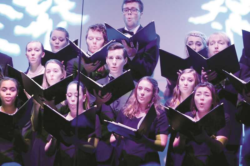 GRAPHIC FILE PHOTO - George Fox University's concert choir, chamber choir, chorale and festival orchestra will perform Dec. 7-9 in the school's annual Christmas concert at Bauman Auditorium.