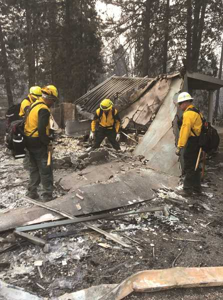COURTESY PHOTO - Woodburn firefighters found 15 of 18 war medals among the debris of Stephen Rowe's home, which was destroyed in recent 'Camp Fire' blaze that ravaged Paradise, Calif.