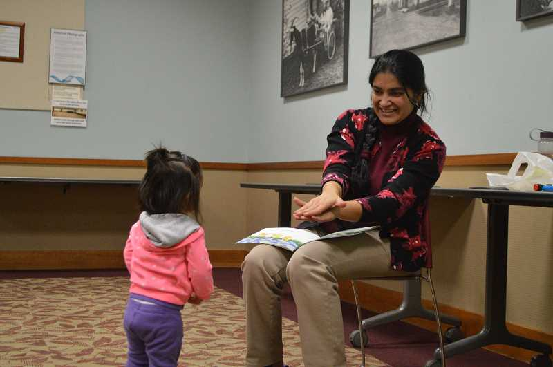 STAFF PHOTO: JANAE EASLON - International storytime is offered every Saturday at Hillsboro Brookwood Library, each with a different language for early learners to listen and participate