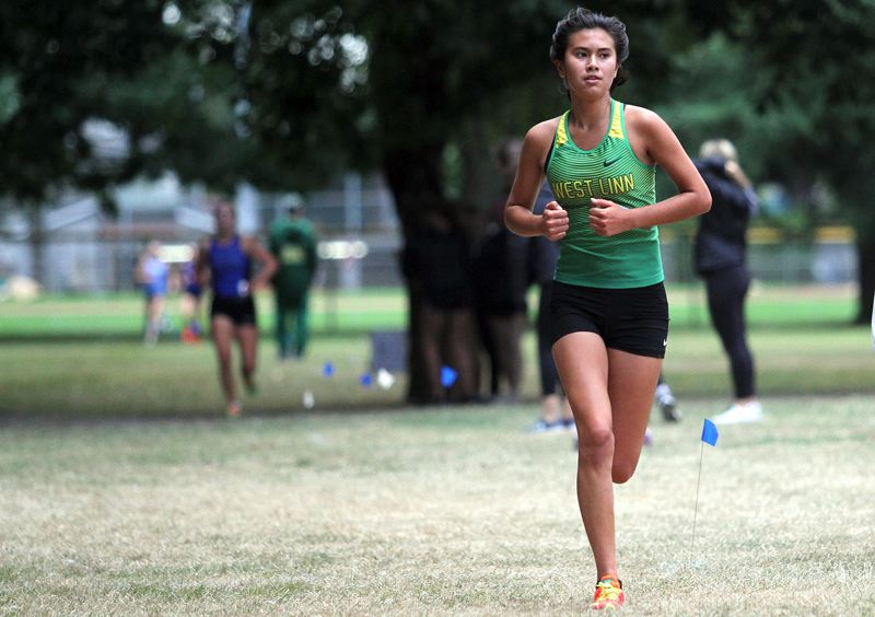 TIDINGS FILE PHOTO - West Linn junior Moya Moses won a berth on the all-Three Rivers League first team after finishing eighth in the 2018 TRL district meet.