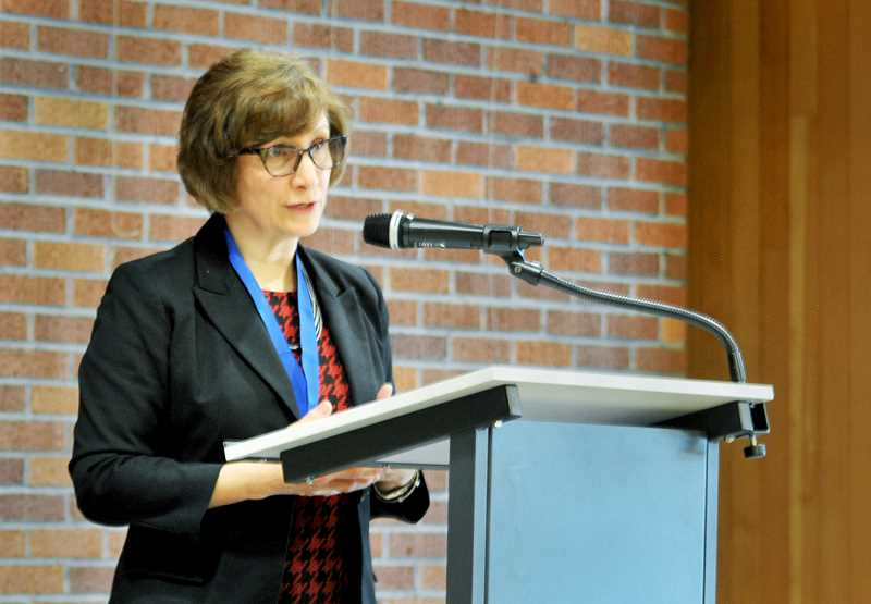 RYAN CLARKE - Congresswoman Suzanne Bonamici spoke Nov. 20 before the Newberg City Club.