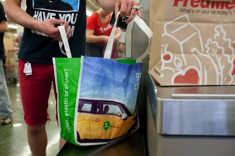 FILE PHOTO - Portland and several other Oregon cities, including Forest Grove, have already banned single-use plastic bags in favor of paper and re-usable alternatives. Hillsboro and Salem have now voted to join them.