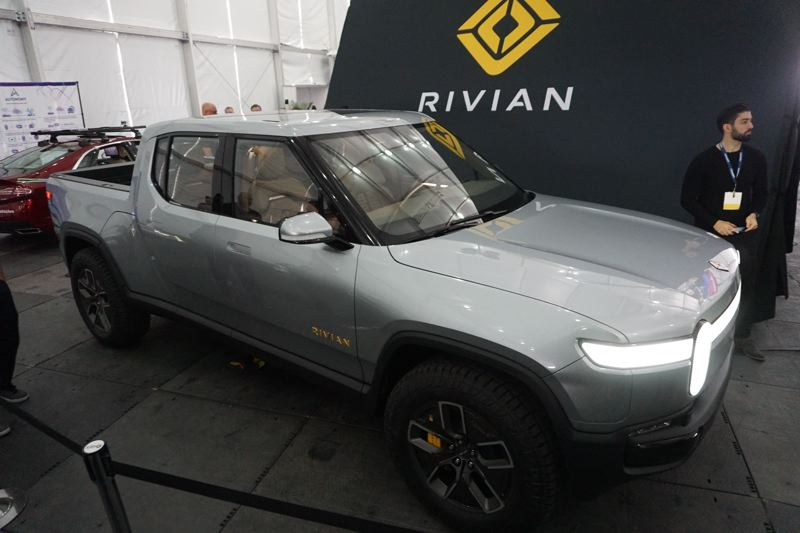 PORTLAND TRIBUNE: JEFF ZURSCHMEIDE - Rivian dispalyed an all-electric pickup truck and three-row, seven-passenger SUV, both with all-wheel-drive.