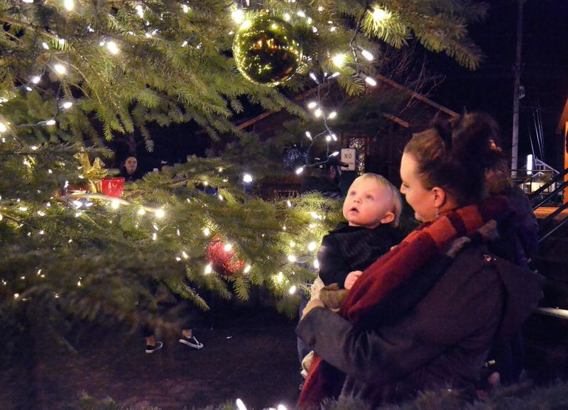 FILE PHOTO - Community members of all ages are welcome at the Sandy Tree Lighting Ceremony from 6-8 p.m. Dec. 7 in Centennial Plaza.