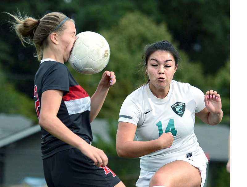 PMG FILE PHOTO - An investigation of injury reports from Oregon high schools indicate that soccer concussions were second only to those from football injuries between 2015 and 2017.