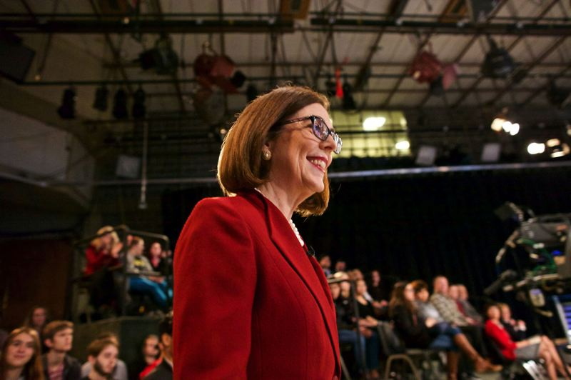PAMPLIN MEDIA GROUP FILE PHOTO - Besides schools, Gov. Kate Brown's budget plan takes on state health care, climate change and gun control issues.