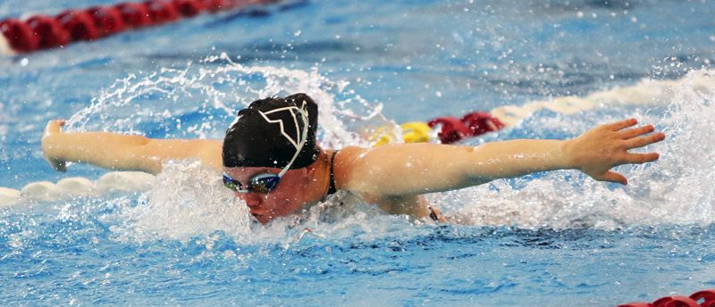 TIMES FILE PHOTO: DAN BROOD - Senior Kaitlyn Wornath returns after placing third in the 100 butterfly at last years Class 6A state meet.