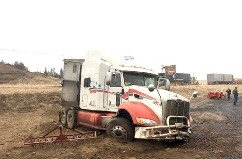 PHOTO COURTESY OF JEFFERSON COUNTY SHERIFF'S OFFICE - A semitruck was involved in a collision with a car on the morning of Nov. 21.