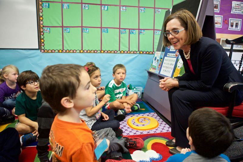PAMPLIN MEDIA GROUP FILE PHOTO - Gov. Kate Brown is betting on a big payoff for a major investment in schools across the state.