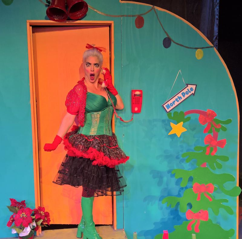 COURTESY: TRIANGLE PRODUCTIONS - Radio personality Daria plays Cindy Lou Who in Triangle Productions' 'Who's Holiday!,' Nov. 30-Dec. 15.