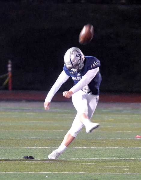 SPOKESMAN PHOTO: TANNER RUSS - Junior kicker JacobHaussermann was72-of-80 on PATattempts, and made3-of-5 field goalsattempted during theseason for 81 totalpoints. Haussermannalso averaged 51.4yards per kickoff.