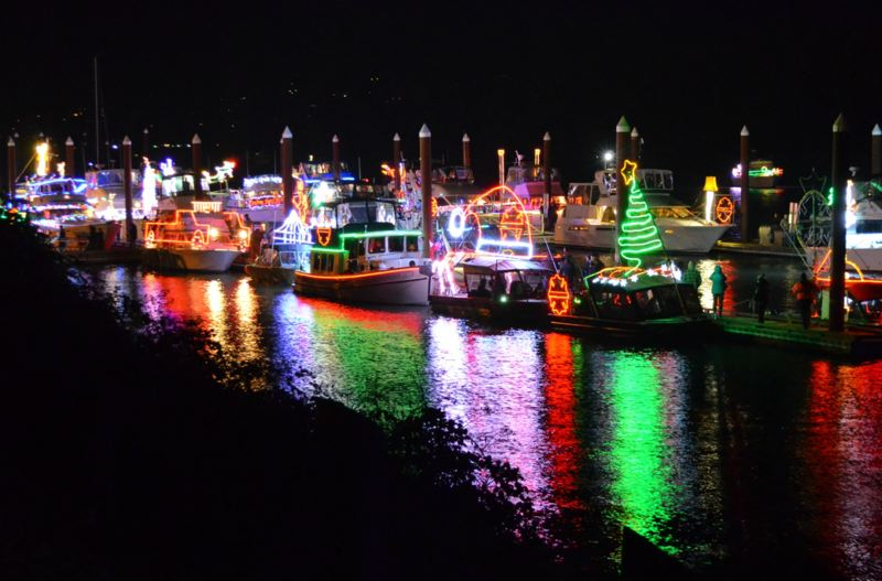 PHOTO COURTESY OF THE CITY OF ST. HELENS - The annual tree-lighting and Christmas Ships parade in St. Helens will take place Saturday, Dec. 8. This years festivities will include a fireworks display in honor of volunteer Ed Lokken, who died this year, and other community volunteers who have supported the citys fireworks displays over the years.
