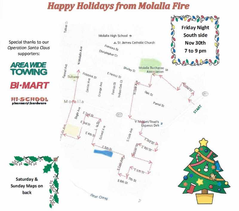 MOLALLA FIRE - On Friday, Nov. 30 from 7-9 p.m., Molalla Fire hits the south side of town.