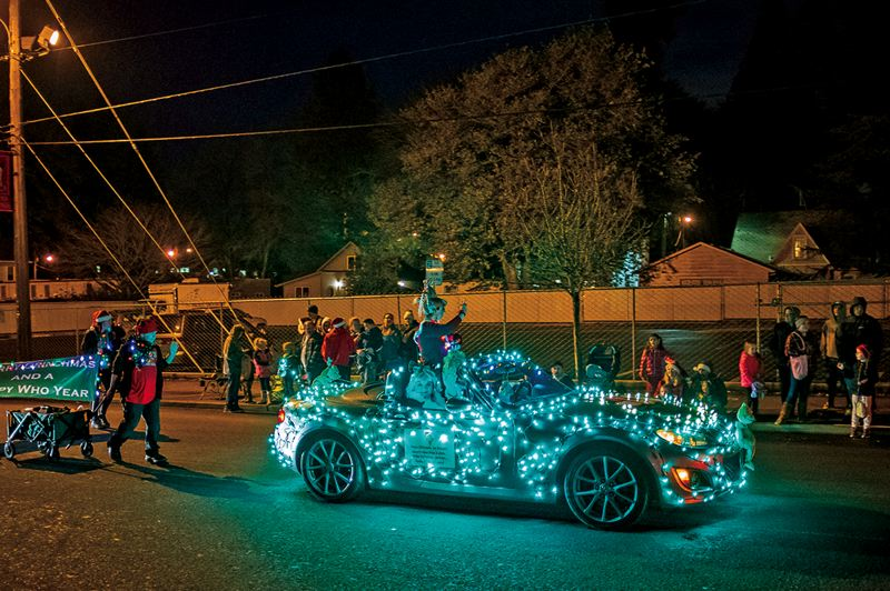 FILE PHOTO - Residents are encouraged to decorate their vehicles for the Jingle Thru North Plains community parade.