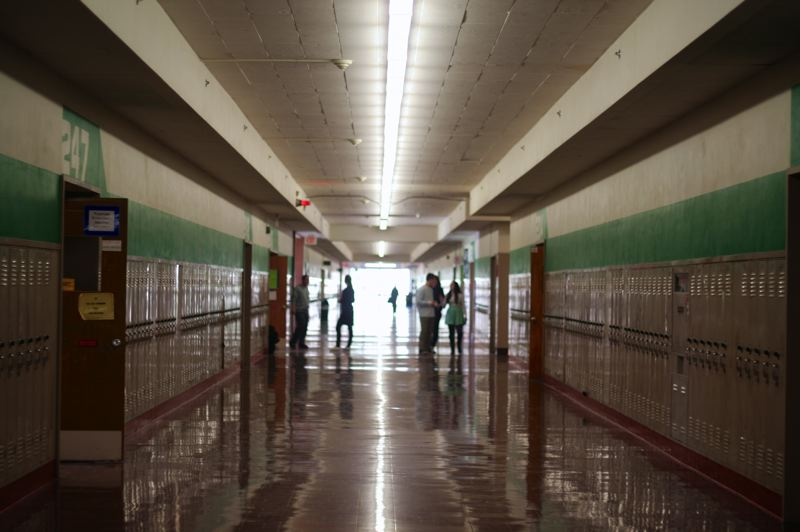 TRIBUNE FILE PHOTO - The hallway at Wilson High School. The head custodian there says he often has less than a full compliment of staff to clean the building.