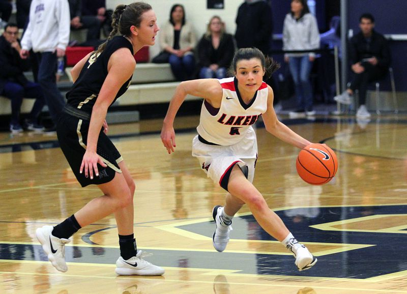 REVIEW FILE PHOTO - Lake Oswego senior guard Katy Gilbert and the Lakers are hoping to be competitive in the Three Rivers League in the coming 2018-19 TRL season.