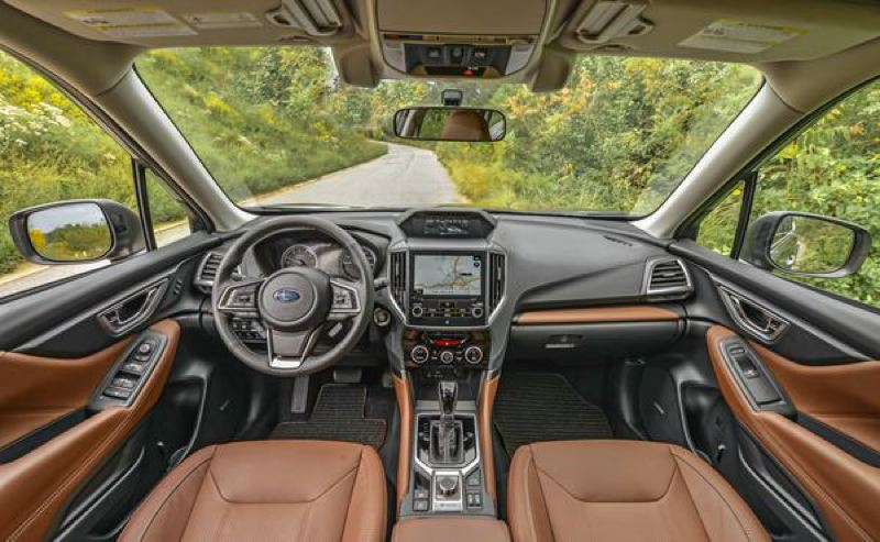 SUBARU OF AMERICA - The interior of the 2019 Subaru Forester has been upgraded with higher quality materials.