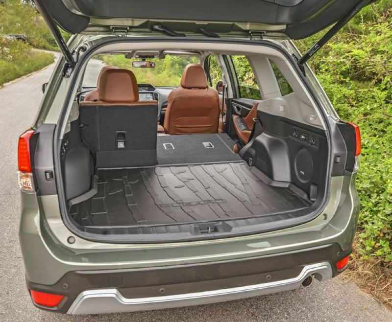 SUBARU OF AMERICA - Cargo space in the 2019 Subaru Forester is impressive for a compact crossover SUV.