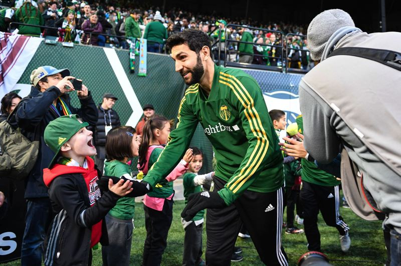 TRIBUNE PHOTO: CHRISTOPHER OERTELL - Diego Valeri and the Portland Timbers weren't gangbusters from the start, but their MLS season has gone the distance, with the team set to play for the league championship Saturday at Atlanta.