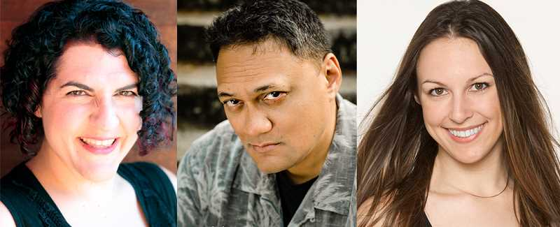 COURTESY PHOTO: GLENN & VIOLA WALTERS CULTURAL ARTS CENTER - Bag&Baggage actors Cassie Greer, Mandana Khoshnevisan, and Lawrence Siulagi will each share magical tales from their own heritage and tradition.