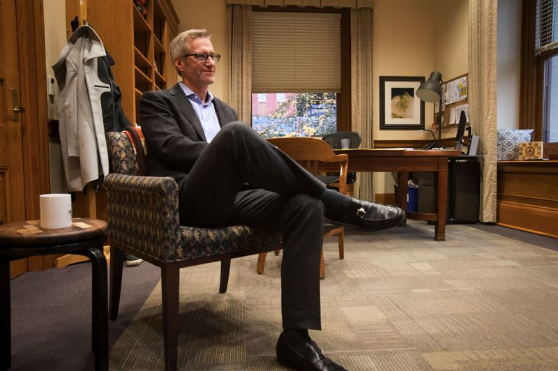 TRIBUNE PHOTO: JAIME VALDEZ - Mayor Ted Wheeler says a recent, publicly muttered gripe should not encourage people to count him out. He says his 'expectation' is he will run for reelection in 2020, though he's not ready to commit until he and his family make a final decision.