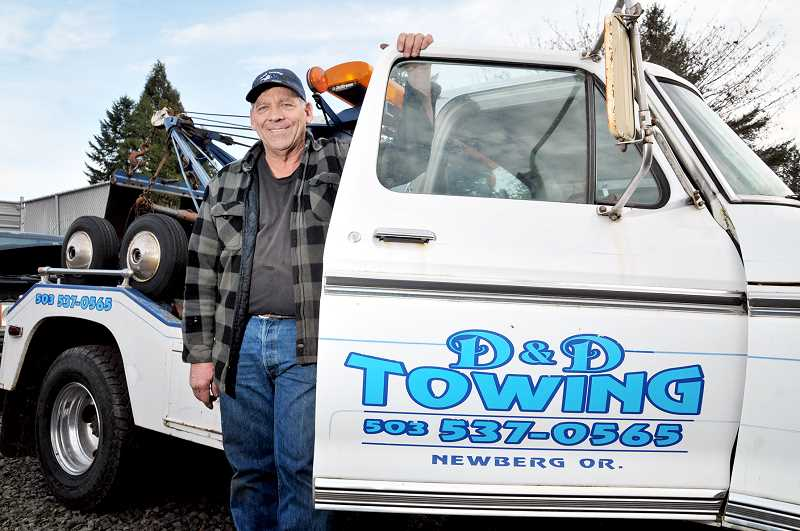 GARY ALLEN - Darrell Mount has utilized a number of vehicles during his 30-plus year tenure as owner of D&D Towing.