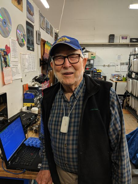 PAMPLIN MEDIA GROUP: JOSEPH GALLIVAN  - Retired pastor, Jim Anderson, 88, specializes in fixing up laptops to send, via one tourist at a time, to his contacts in African countries such as Kenya and Zimbabwe.