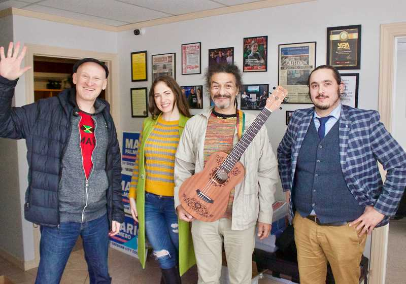 OUTLOOK PHOTO: CHRISTOPHER KEIZUR - Slavic Family radio station often finds itself moonlighting as an event center, like when Gerbert Morales, a self-described Russian Rastafarian musician, visited East Multnomah County.