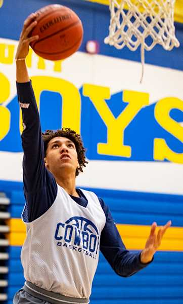 LON AUSTIN/CENTRAL OREGONIAN - Thaiden Mullan is one of the key returning starters for this year's Crook County High School boys basketball team.