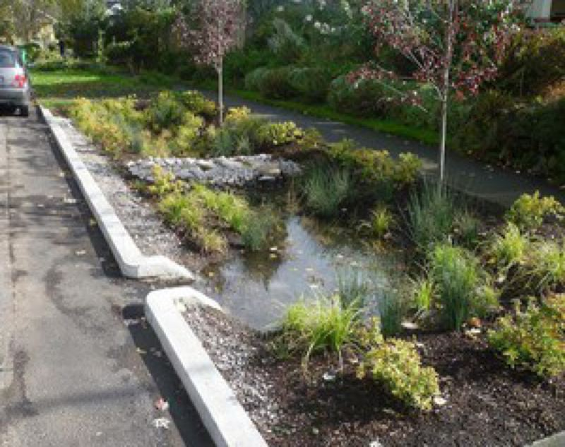 """COURTESY CITY OF PORTLAND - A """"green street"""" project in Portland designed to absorb stormwater and prevent sewer backups and overflows."""